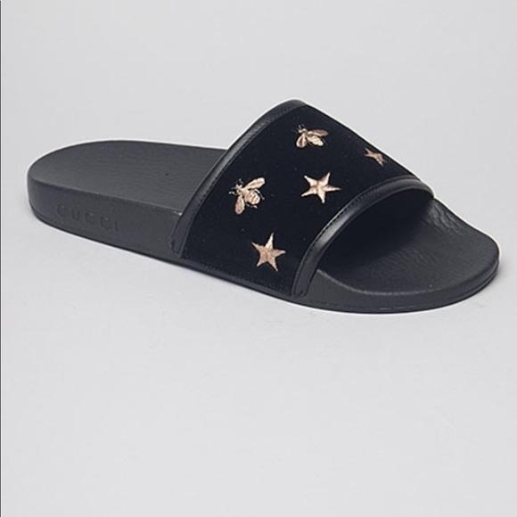 d7434a1b0fd Gucci Bee Slides Brand New w  Tags